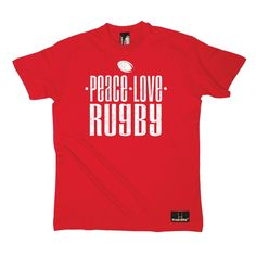 Up And Under Men's Peace Love Rugby T-Shirt