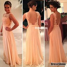 I like this - A Line Scoop Chiffon and Lace Backless Evening Dress. Do you think I should buy it?