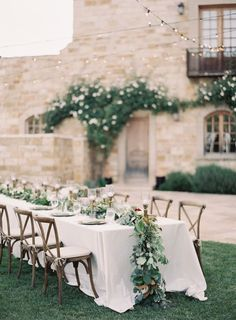 """Wedding Venues Weddings and vineyards are a match made in heaven. Get our French vineyard wedding ideas for your guide to a wedding in provincial paradise. - Say """"I do"""" in a bucolic dreamland with our five tips for the perfect French vineyard wedding. Reception Decorations, Wedding Centerpieces, Wedding Table, Wedding Ceremony, Wedding Venues, Tall Centerpiece, Garland Wedding, Destination Wedding, Perfect Wedding"""