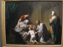 Jacob Blessing Ephraim and Manasseh - Benjamin West