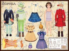 "Paper Doll World. Doll ""Sophia"". by Poeet Design, Estonia"