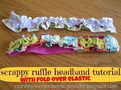 Scrappy Ruffle Headband Tutorial