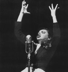"""wehadfacesthen: """" Judy Garland at the Palace Theater, New York, 1952, the first of many comebacks """""""