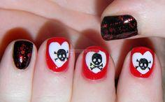 anti valentine's day nails - Google Search