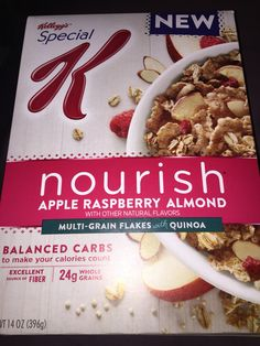 Kellogg's special K nourish apple raspberry almond multi-grain flakes with quinoa