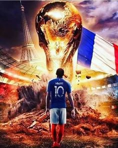 Well done France. Perfect world Cup win. Very reminiscent of And thank you Croatia for the great football. French Football Players, Football 2018, Football Soccer, Cr7 Messi, Neymar Jr, Lionel Messi, France World Cup 2018, Mbappe Psg, Russia 2018