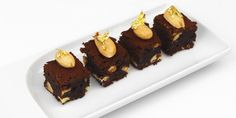 Frances Atkins includes salted almonds in her chocolate brownies, making a gorgeously decadent petit four