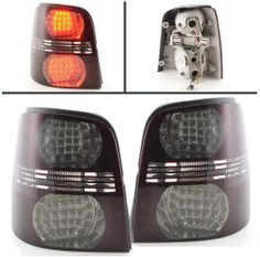 VW Touran 2003-2010 Red & Smoked LED Style Rear Lights