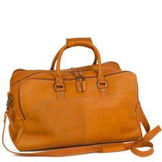 d65bc1ba576e Camden LeatherWorks Leather Tan Travel Duffel Bag Holdall Gym Weekend Bag