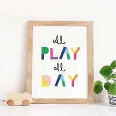 Playroom Wall Art Lets Play Nursery Decor Playroom Decor Playroom Sign Playroom Decal Playroom Art Playroom Wall Decor For Playroom Playroom Signs, Playroom Wall Decor, Playroom Furniture, Playroom Organization, Nursery Decor, Playroom Ideas, Playroom Quotes, Girl Nursery, Playroom Bench