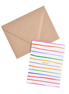 merci stripes thank you card set / $18 [new]