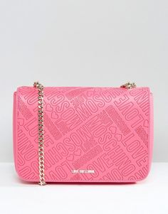 Love Moschino Logo Stamp Shoulder Bag