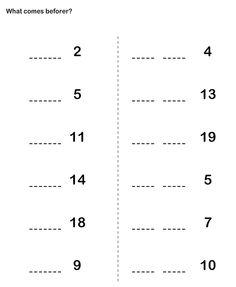 Math Worksheets, Kindergarten Worksheets, What Number is Missing ...
