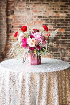 red, pink, and silver | Lauren Rosenau #wedding