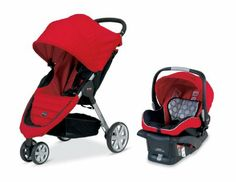 Amazon.com: Britax B-Agile and B-Safe Travel System, Red: Baby (319.99)