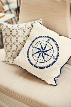 Nautical throw pillow. Must have it!