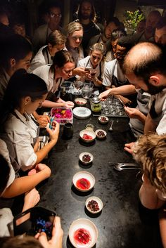 at NOMA in Copenhagen. The young cooks are asked to put together their own dishes for René Redzepi's inspection and analysis. Photo: for The New York Times