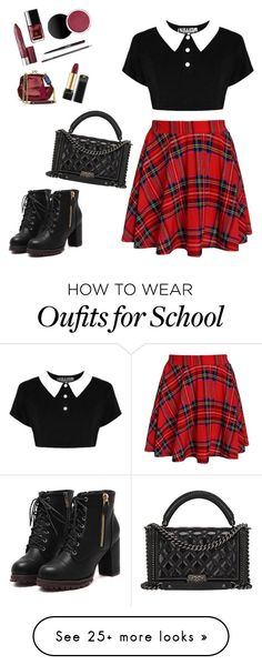 """The Rebellious School Girl"" by aworldfulloffantasy on Polyvore featuring Chanel"
