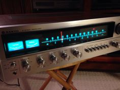 Vintage Sanyo DCX6000K receiver. Mint condition and sweet sound