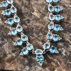 Madagascar Paraiba Apatite Necklace in Platinum Overlay Sterling Silver (Nickel Free)