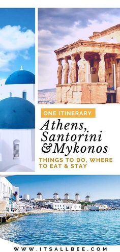 Greece Itinerary The Perfect Itinerary For Athens Santorini And Mykonos Plus. : Greece Itinerary The Perfect Itinerary For Athens Santorini And Mykonos Plus. Greece Destinations, Greece Itinerary, Travel Destinations, Voyage Europe, Europe Travel Guide, Budget Travel, Travel Guides, Greece Vacation, Greece Travel
