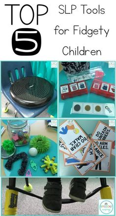 Top 5 speech therapy tools for little movers and fidgety children! Perfect for students with ADHD, autism, and learning disabilities!