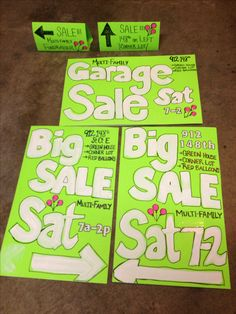 Yard Sale Signs | Yard Sale | Pinterest | Signs, Yard sale signs ...