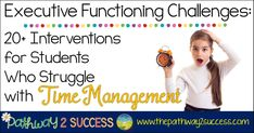 Interventions for Executive Functioning Challenges: Time Management Time Management Planner, Time Management Skills, Behavior Management Strategies, English For Beginners, Kids Schedule, Elementary School Counseling, Executive Functioning, Classroom Behavior, Social Emotional Learning