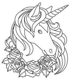easy coloring pages of unicorns to print  Unicorn Coloring Pages