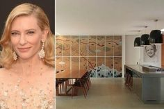 Actress Cate Blanchett and her playwright husband Andrew Upton have put their home in Sydney's Hunters Hill area on the market Andrew Upton, Cate Blanchett, Celebrity Kitchens, Celebrity Houses, Quirky Kitchen, Layout, Image House, Concrete Floors, Decoration