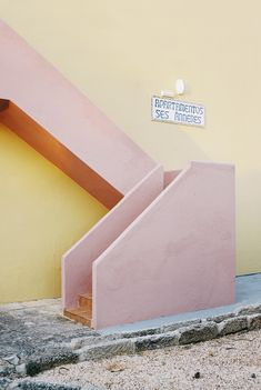 pink stairwell
