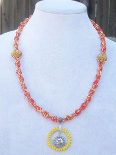 Sunshine Hemp Necklace by Jenstylehemp on Etsy