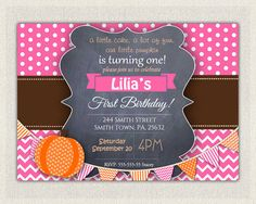 Girls 1st Birthday Invitation / Pink by PixiePerfectParties