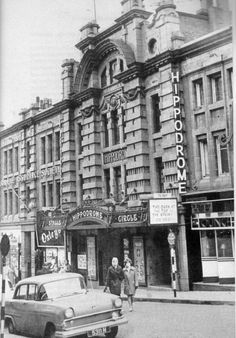 The Hippodrome. Loved the interior as I remember it was curved rows of bench like seating in tiers. Cinema Theatre, London Theatre, Sources Of Iron, London Street Photography, Industrial Development, Derbyshire, Sheffield, Birmingham, Yorkshire