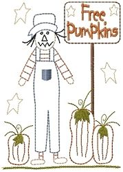 Free Pumpkins Sampler - 5x7 | Fall | Machine Embroidery Designs | SWAKembroidery.com HeartStrings Embroidery
