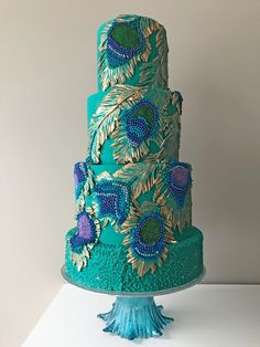 Ten Ugly Truth About Peacock Themed Wedding Cakes - Ten Ugly Truth About Peacock Themed Wedding Cakes - peacock themed wedding cakes Peacock Cake, Peacock Wedding Cake, Purple Wedding Cakes, Themed Wedding Cakes, Cool Wedding Cakes, Themed Cakes, Pretty Cakes, Beautiful Cakes, Amazing Cakes