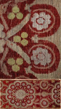 Antique Textiles 15th Century Ottoman Cut Velvet