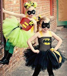 Robin Tutu Dress & Batgirl Tutu Dress | Click for 30 DIY Halloween Costumes for Kids to Make | DIY Halloween Costumes for Girls