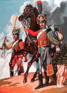 Hussard et Trompette du 9ème Régiment, 1809-1812