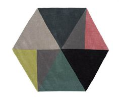 "Linie Design Denmark ""Sato"" hand tufted wool rug color Lime.  59"" X 51""."