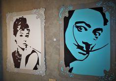 Quadros feitos com papéis recortados na máquina de corte a laser. Base em MDF e acrílico na frente. Dröm Custom Shop - Moema / Sp  http://www.drom.com.br/loja/  #art #lasercut #paper #wood #acryllic #frame #pieceofart #SalvadorDalí #AudreyHepburn #design #customdesign #dromdesign #picture