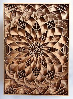 Laser woodcarving.
