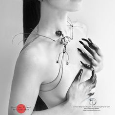 Miyu Decay Sterling Silver Bat Skeleton Necklace by MiyuDecay, $9000.00
