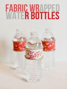 Fabric Wrapped Water Bottles Craft Idea via Nest Celebrations Contributor Nikki of Tikkido.com