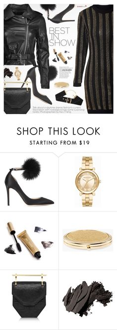 """""""Party Style"""" by pokadoll ❤ liked on Polyvore featuring Jimmy Choo, Michael Kors, Jane Iredale, Chico's, M2Malletier, Bobbi Brown Cosmetics, polyvoreeditorial and polyvoreset"""