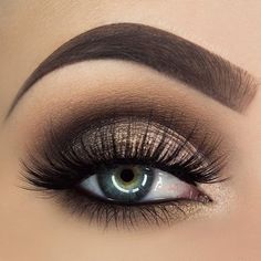 brown and gold smokey eye #Smokeyeyemakeup