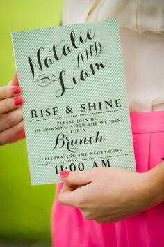eat drink recover – wedding brunch invitation (digital file, Wedding invitations
