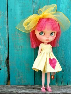 OOAK Custom Blythe doll -CANDY- with ooak outfit- by Marina