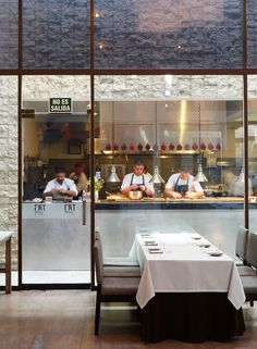 The modernist dining room at the restaurant Central (Calle Santa Isabel 376; 511-242-8515; entrées from $21) faces an open kitchen.