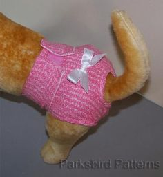 "I've been looking for an easy-to-make ""diaper"" for my little female furkid - I have the belly band for the boy already done. Looks easy enough here. http://memberfiles.freewebs.com/46/52/66595246/documents/pbp_dog_diaper_sewing_instructions.pdf"